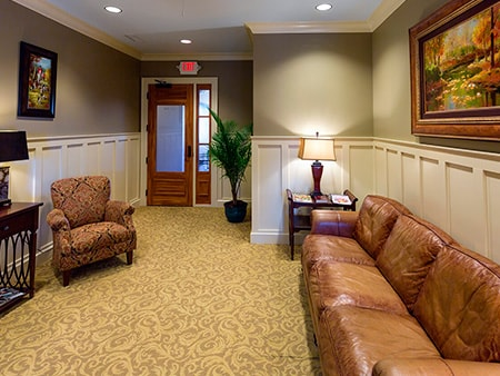 The waiting room and the entrance to the dental office of T. Lance Collier, DMD