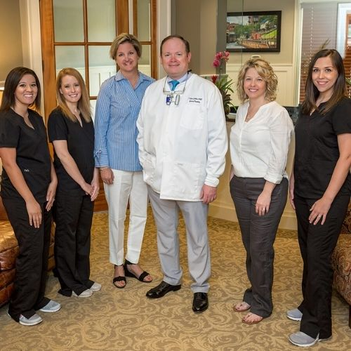 Dr. Collier and his team in our dental office in Columbus, GA